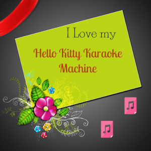 Girls love Hello Kitty Karaoke Machine