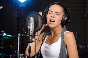 Recording singing voice